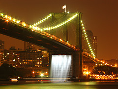 Brooklyn Bridge Waterfalls by Epicharamus