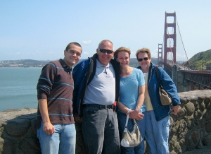 Family at the Golden Gate Bridge